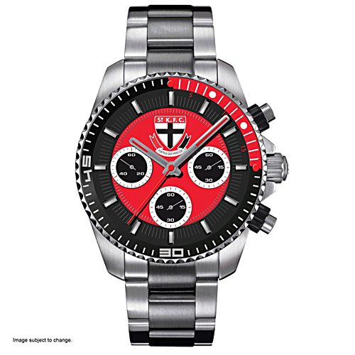AFL St Kilda Saints Men's Stainless Steel Watch