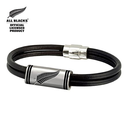 All Blacks Leather Men's Bracelet