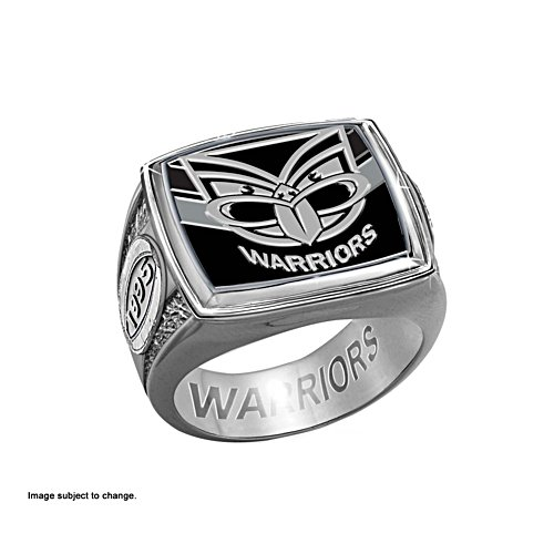 NRL New Zealand Warriors Ring with Club Emblem