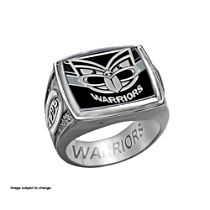 NRL New Zealand Warriors Men's Sterling Silver Ring