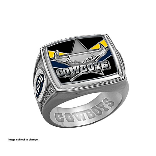 NRL North Queensland Cowboys Men's Sterling Silver Ring