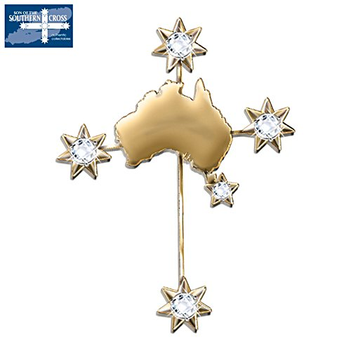 Southern Cross 18K Gold Plated Brooch
