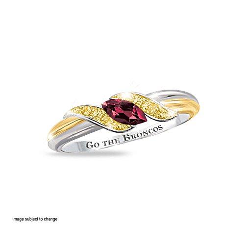 NRL Brisbane Broncos Women's Diamonesk® Simulated Diamond Ring