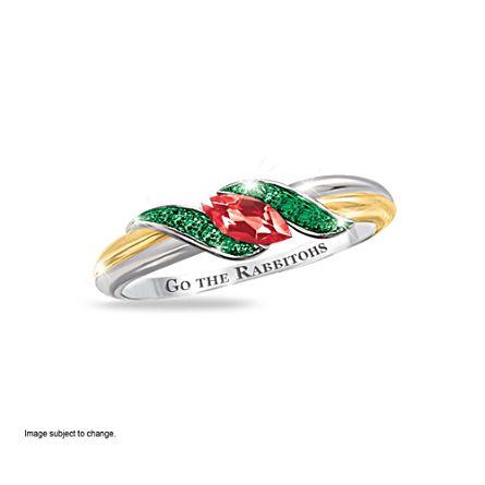 NRL South Sydney Rabbitohs Women's Diamonesk® Simulated Diamond Ring