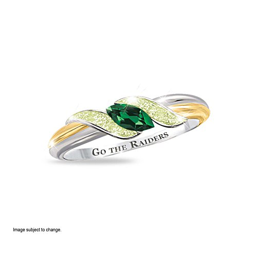 NRL Canberra Raiders Women's Diamonesk® Simulated Diamond Ring