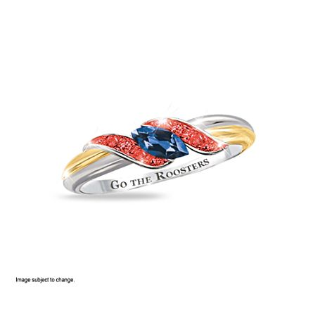 NRL Sydney Roosters Women's Diamonesk® Simulated Diamond Ring