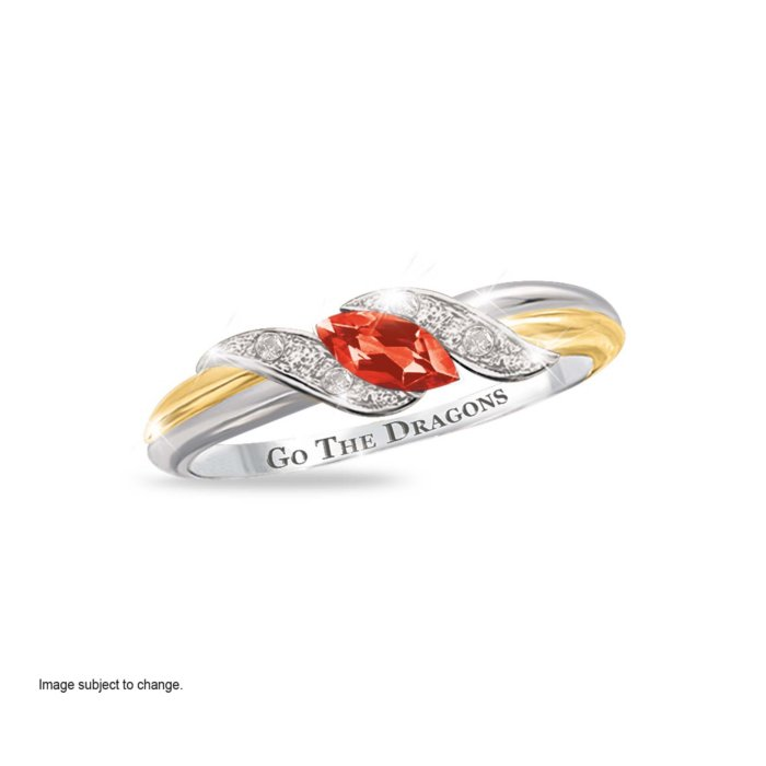 12108053f NRL St. George Illawarra Dragons Women's Diamonesk® Simulated Diamond Ring