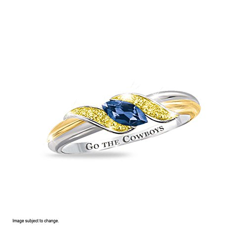 NRL North Queensland Cowboys Women's Diamonesk® Simulated Diamond Ring