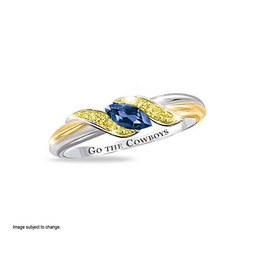 NRL North Queensland Cowboys Women's Diamonesk® Simulated Diamond Ring