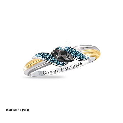 NRL Penrith Panthers Women's Diamonesk® Simulated Diamond Ring