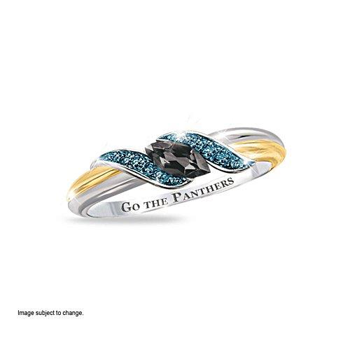 NRL Penrith Panthers Women's Diamonesk® Simulated Diamond Ring