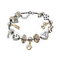 Puppy Love Charm Bracelet with Swarovski Crystals
