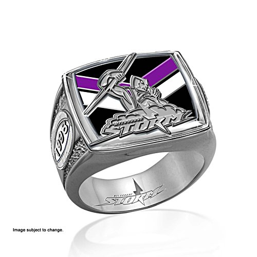 NRL Melbourne Storm Ring with Club Emblem