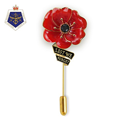 Flanders Fields Men's Poppy Lapel Pin