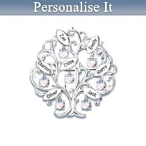 Family Of Love Personalised Swarovski Brooch
