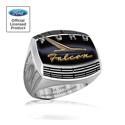 Ford Falcon Men's Ring With Engravings