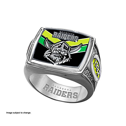 NRL Canberra Raiders Ring with Team Colours