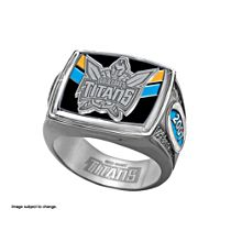 NRL Gold Coast Titans Men's Sterling Silver Ring