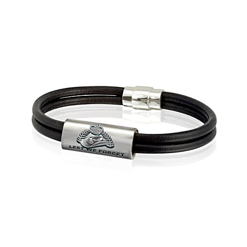 Lest We Forget Men's Leather Bracelet