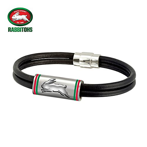 NRL Rabbitohs Wristband with Club Emblem