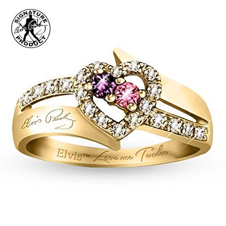 Elvis™ Love Me Tender 18K Gold Plated Ring