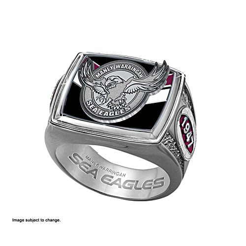 NRL Manly Sea Eagles Ring with Club Emblem