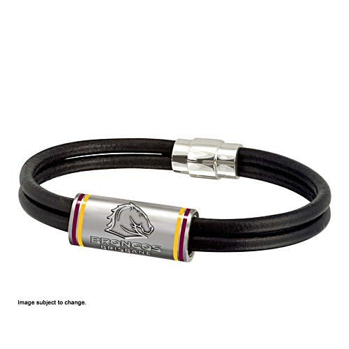 NRL Brisbane Broncos Wristband with Club Emblem