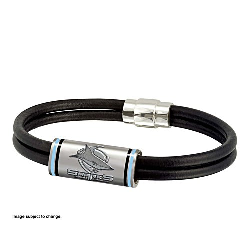 NRL Cronulla Sharks Wristband with Club Emblem