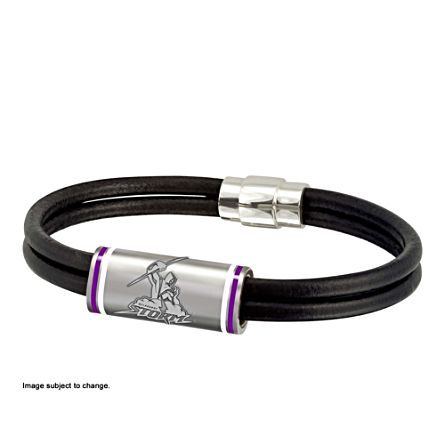 NRL Melbourne Storm Men's Leather Wristband