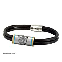 NRL Gold Coast Titans Men's Leather Wristband