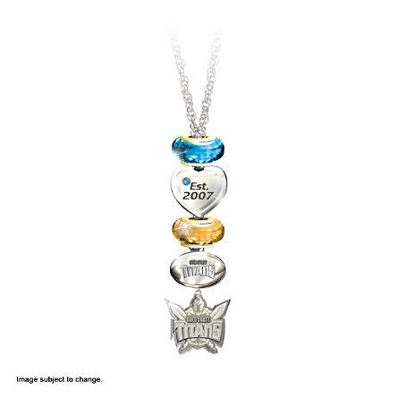 NRL Gold Coast Titans Women's Pendant Necklace With Swarovski Crystal