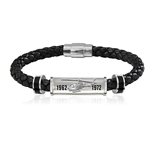 Veterans Remembered Leather Men's Wristband