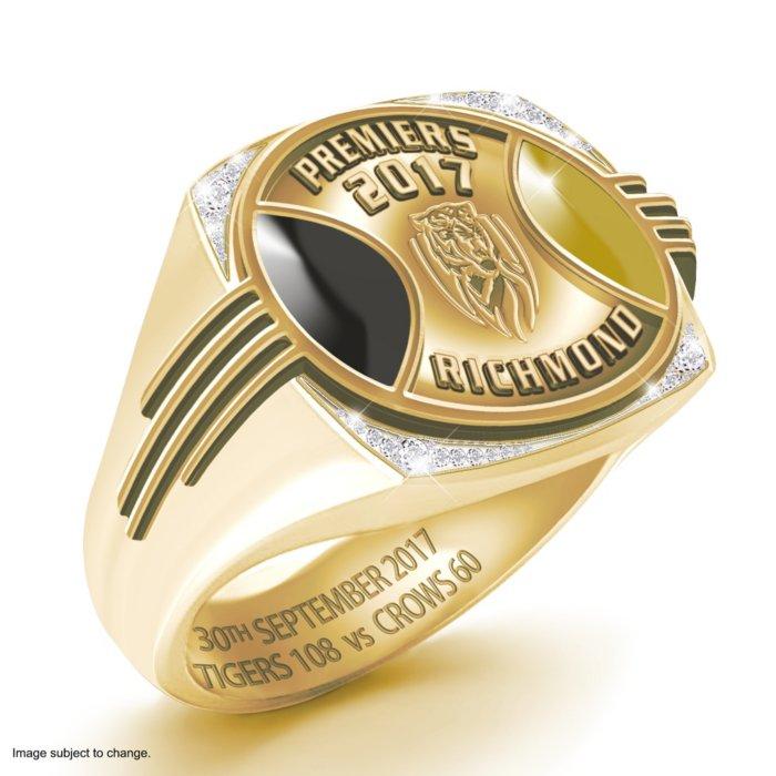2017 AFL Toyota Premiers Richmond Tigers Men's Ring