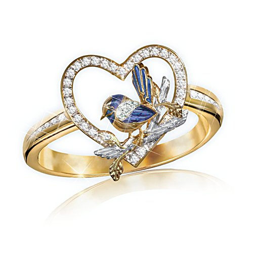 Jewel of Nature Fairy Wren Ring