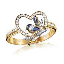 Jewel of Nature Fairy Wren Ring