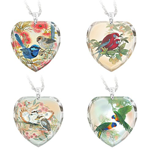 Birds of the Bush Pendant Set