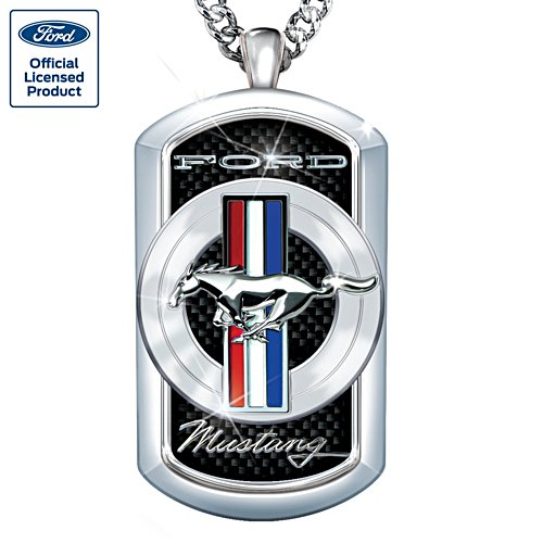 Ford Mustang Stainless-Steel Men's Dog Tag