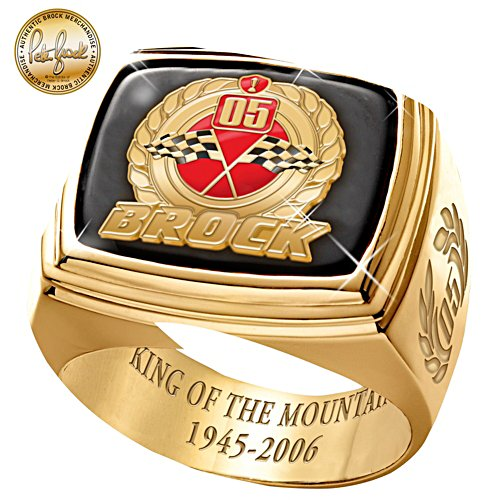 Peter Brock King of the Mountain Gold Ring