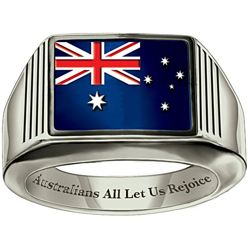Australians Rejoice Patriotic Sterling Silver Men's Ring