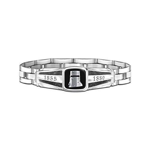 Ned Kelly Men's Wristband with Rich Black Enamel