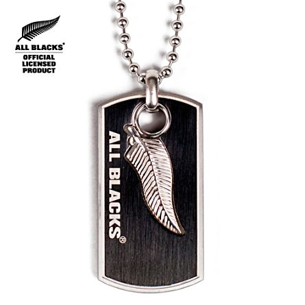 Official All Blacks Men's Stainless Steel Dog Tag