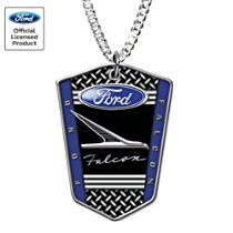 Ford Falcon Stainless Steel Dog Tag