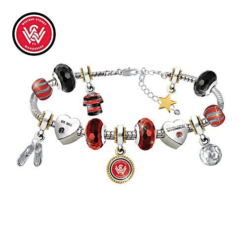Wanderers FC Swarovski Charm Bracelet