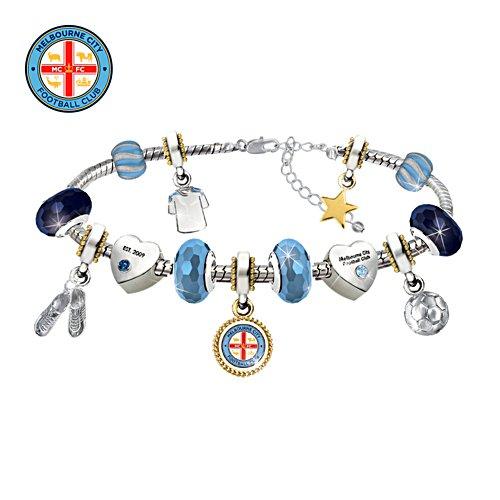 Melbourne City FC Swarovski Charm Bracelet