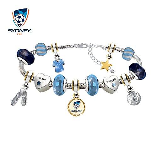 Sydney FC Swarovski Charm Bracelet