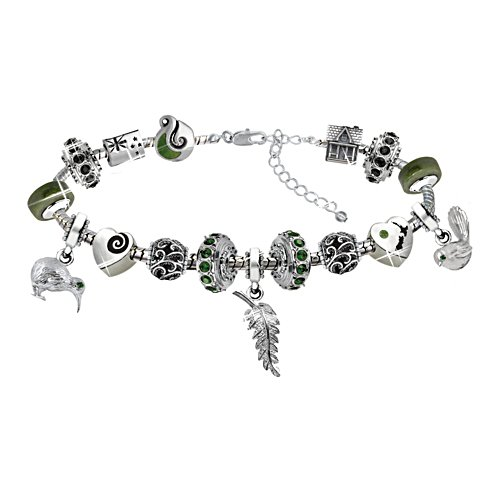 Splendours Of New Zealand Swarovski Charm Bracelet