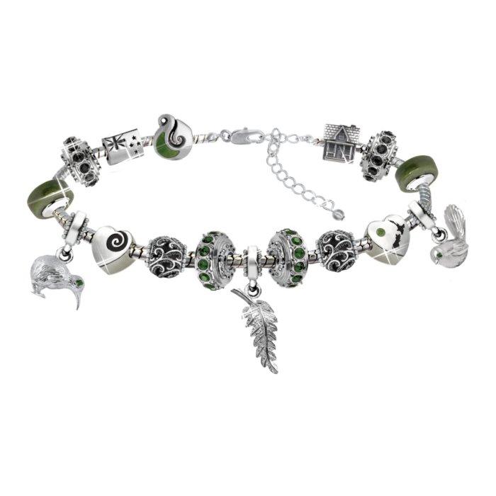 Splendours Of New Zealand Swarovski Charm Bracelet