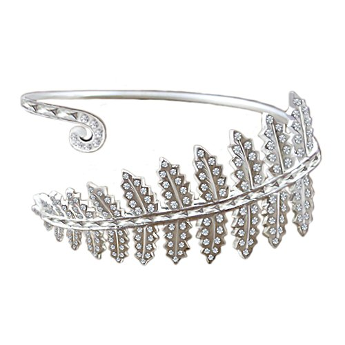 New Zealand Silver Fern Gem Bangle