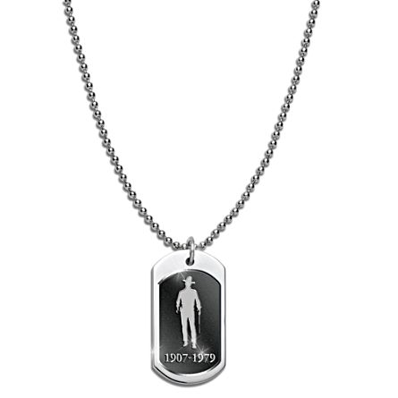 John Wayne Men's Stainless Steel Dog Tag