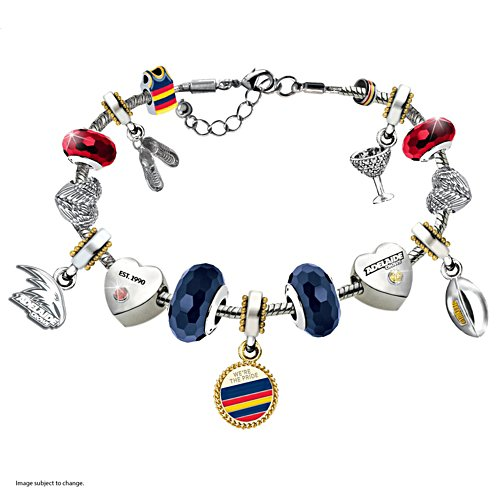 AFL Adelaide Crows Women's Charm Bracelet